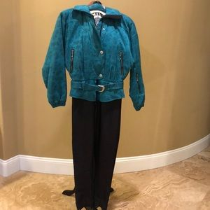 Brand new turquoise Nils one piece ski suit
